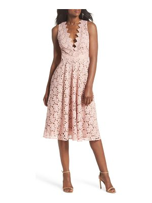 SAU LEE Ashley Guipure Lace Fit & Flare Dress