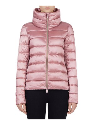 Save The Duck Iris Channel-Quilted Raised-Collar Jacket