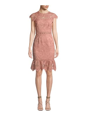 Saylor Joah Scalloped Lace Dress