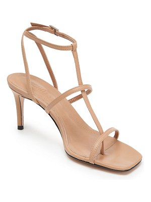 Schutz Ameena Leather T-Strap Sandals
