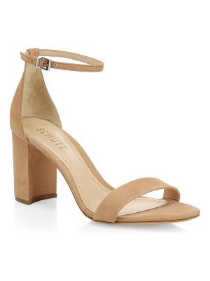 Schutz anna lee nubuck ankle strap sandals