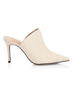 Schutz bardot leather stilleto mules