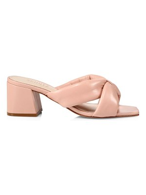 Schutz butterfly padded leather mules