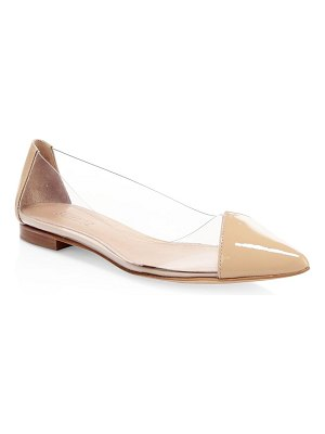 Schutz clearly patent leather flats