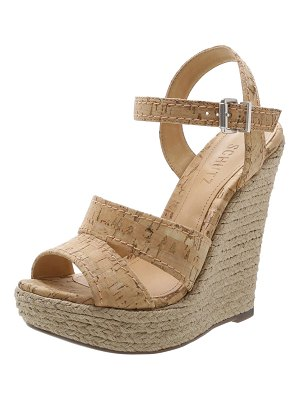 Schutz Dorida Cork Espadrille Wedge Sandals