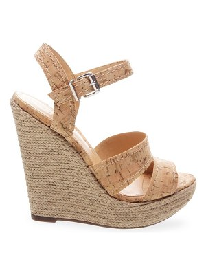 Schutz dorida leather cork platform wedges