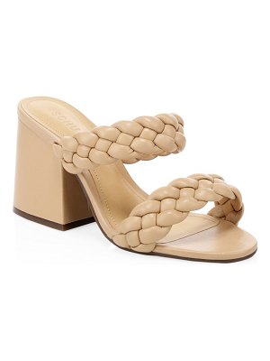 Schutz elida braided leather mules