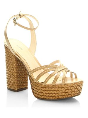 Schutz hortenica leather espadrilles sandals