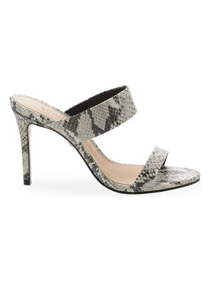 Schutz leia snake-embossed double strap sandals