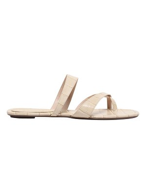 Schutz lucieny croc-embossed leather slides