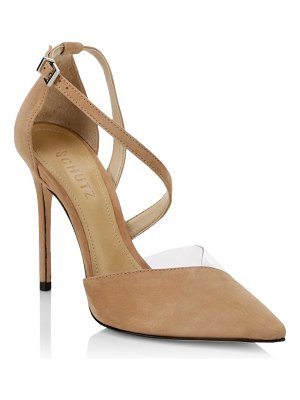 Schutz nissy ankle-strap suede d'orsay pumps