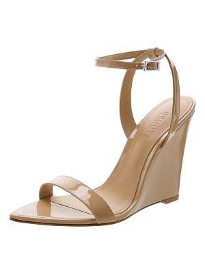 Schutz Raquel Patent Wedge Sandal Pumps