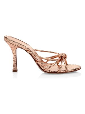 Schutz rina metallic leather mules
