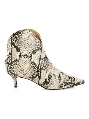 Schutz rosyen python print leather ankle boots
