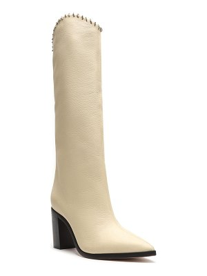 Schutz Valy Pointed Leather Knee Boots
