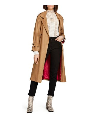 Scotch & Soda belted linen blend trench coat