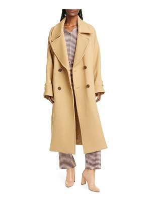 SEA amber double breasted wool coat
