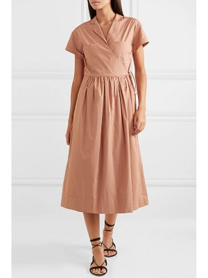SEA calah cotton-poplin wrap dress