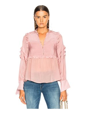 SEA Cecile Long Sleeve Pleat Blouse