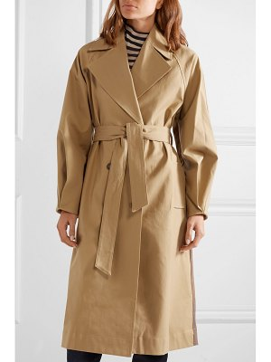 SEA kamille checked woven and stretch-cotton poplin trench coat
