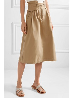 SEA kamille stretch-cotton twill midi skirt