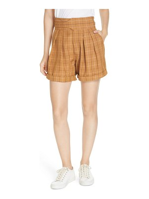 SEA poirot plaid belted shorts