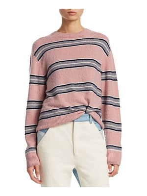SEA saline cashmere striped boyfriend sweater