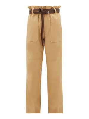 SEA scott paperbag-waist cotton-blend trousers