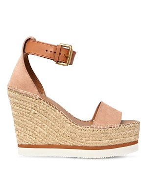 See By Chloe 120mm glynn suede wedges
