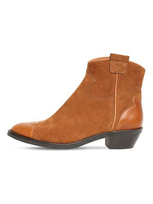 See By Chloe 40mm suede & leather cowboy boots