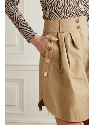 See By Chloe button-detailed cotton-twill shorts