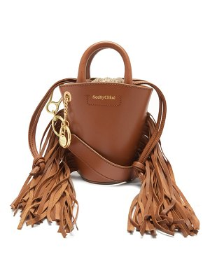 See By Chloe cecilia small fringed leather bucket bag