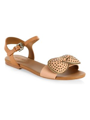 SEE BY CHLOE Clara Bow Leather Flat Sandals