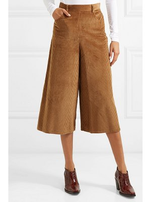 See By Chloe cropped cotton-blend corduroy wide-leg pants