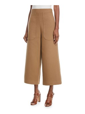 See By Chloe Cropped Cotton Wide-Leg Pants