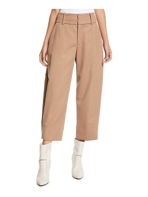 See By Chloe Cropped Wide-Leg Wool-Blend Trousers