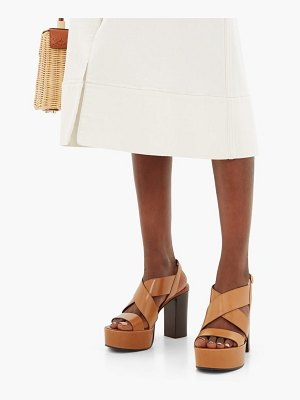 See By Chloe cross-strap smooth leather platform sandals