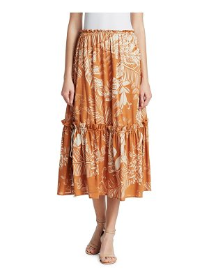 See By Chloe drawn floral midi skirt