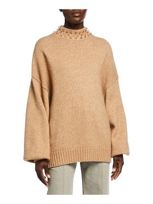 See By Chloe Embellished-Neck Sweater