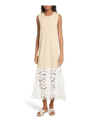 SEE BY CHLOE Eyelet Panel Dress