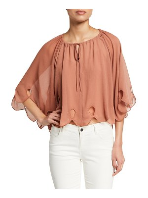 See By Chloe Feminine Scalloped Georgette Blouse