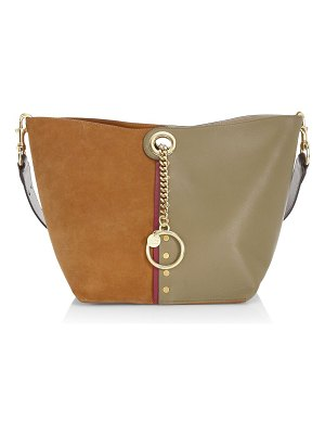 See By Chloe gaia colorblocked suede & leather tote bag