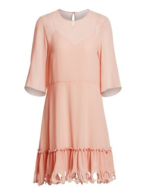 See By Chloe georgette three-quarter sleeve a-line dress