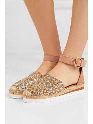 See By Chloe glittered leather platform espadrilles