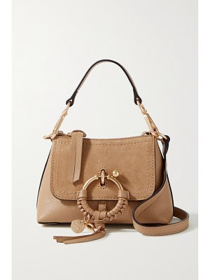 See By Chloe joan mini suede-trimmed textured-leather shoulder bag