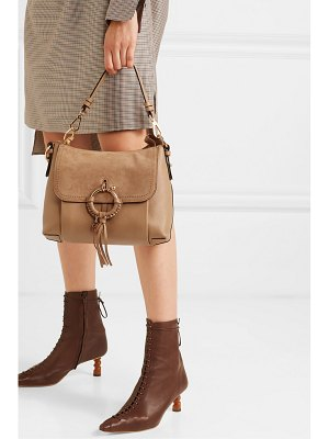 See By Chloe joan small suede and textured-leather shoulder bag
