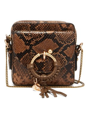 See By Chloe joan square python-effect leather cross-body bag