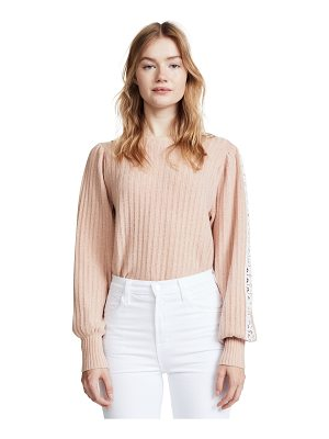 See By Chloe knit and lace sweater