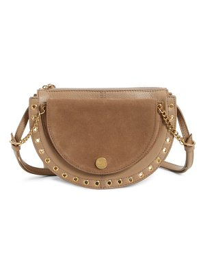 SEE BY CHLOE Kriss Leather & Suede Grommet Shoulder Bag