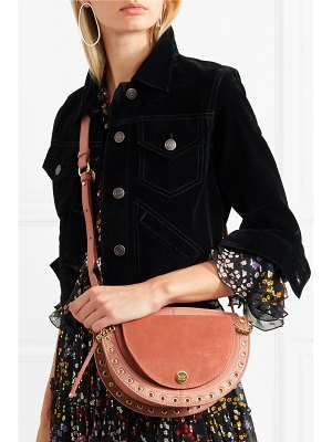 See By Chloe kriss small eyelet-embellished textured-leather and suede shoulder bag